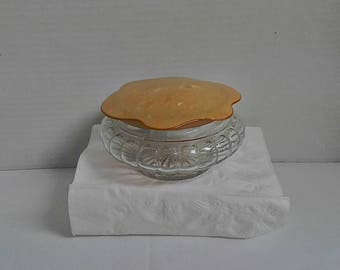 Bakelite Celluloid Vanity Powder Jar or Trinket Jar