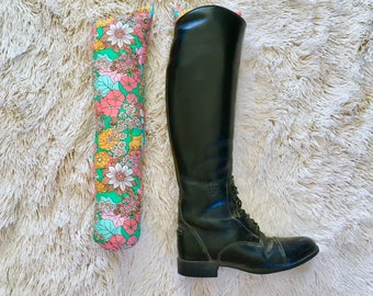 "Tall Boot Bolster ""Garden Party"" | boot tree boot shaper boot freshener"