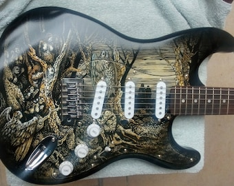 Custom electric guitar