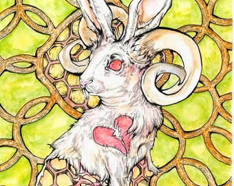 Rabbit Heart Fine Art Print