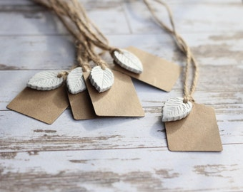Gift tags, clay and kraft gift tags,