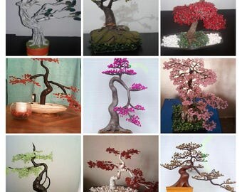 Bonsai. Shapes colors Textures (artificial)