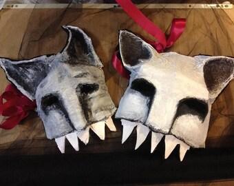 monsters papier maché mask creepy fun cool animal costume ooak creepy valentine dark mask pagan horror horns