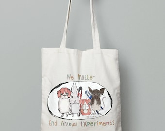 Animal Justice Project 'We Matter' Canvas Tote Bag