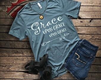 V Neck, Christian T Shirt