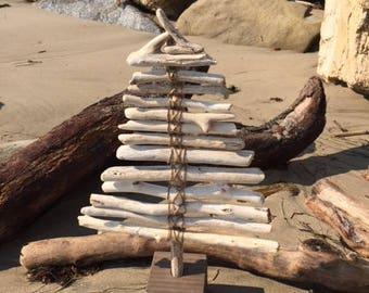 Driftwood Tabletop Christmas Tree