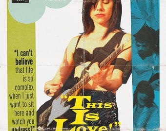 "PJ Harvey ""This is Love"" 1950s Movie Poster Mashup Print"