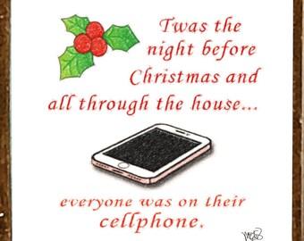 Twas the Night Before Christmas- FUNNY Christmas Ornament