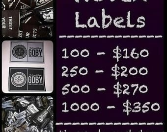 Woven Label Packages ( artwork included )