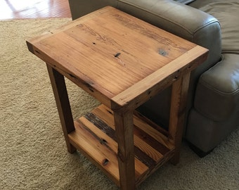 Reclaimed End table