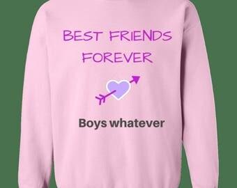 Best Friends Sweatshirt, Friends, Forever, Ladies, Bestie, Gift, Besties, Best Friend