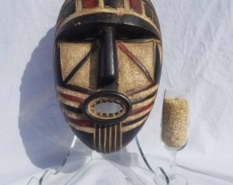 TRIBAL EXOTICS : PREMIUM Authentic fine tribal African Art - Wood Mask Figure Sculpture Statue