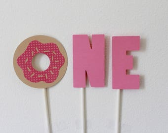 Donut Cake Topper; Donut party; donut centerpiece; donut party decorations; donut party supplies; donut grow up party; donut miss the fun