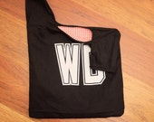 Black netball bib bag - great team gift, bridesmaids gift, or gift for sport and netball lovers - custom available