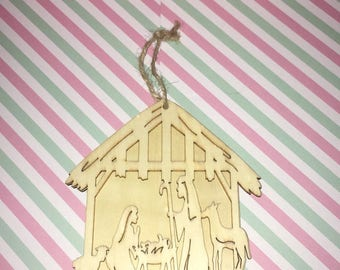 Nativity scene wood ornament- you design!!!