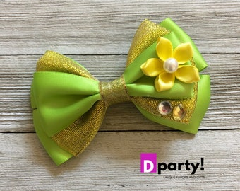 Princess Tiana Hair Bow, Tiana Bow, Disney Hair Bow, Princess and the Frog