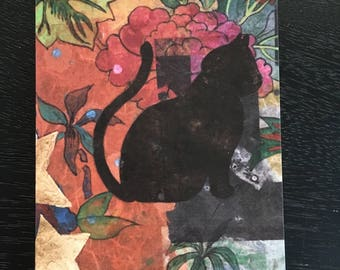 Tropical notecards, cat notecards