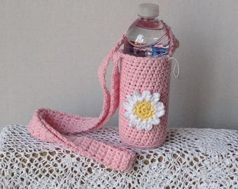 Water bottle holder, baby bottle holder, shoulder strap bottle holder
