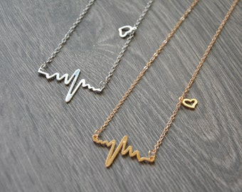 Heartbeat Necklace, Nurse graduation gift, Medical student gift, Pulse necklace, Nurse jewellery, Gift for Doctor, Dr Gift, Mothers day