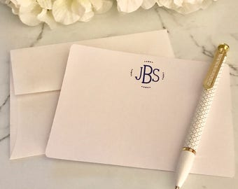 Monogram Note Card Set - Dots