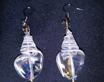 Glass Shell Earrings
