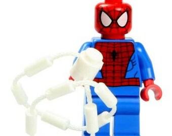 Spiderman with Rope Marvel Super Hero Mini Figure fits LEGO