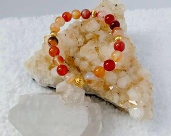 Carnelian - Genuine Handmade Gemstone Stretch Bracelet - 8mm