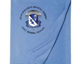 507th Parachute Infantry Regiment Embroidered Blanket-6108