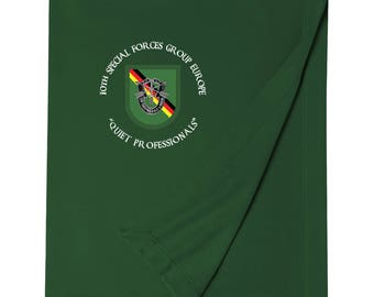 10th Special Forces Group (Europe)  Embroidered Blanket-3737