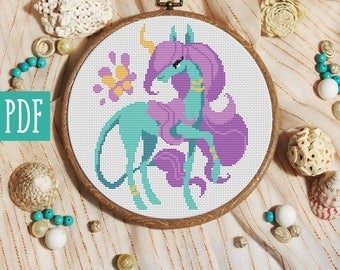 Xstitch Unicorn cross stitch pattern xstitch modern cross stitch easy xstitch cute cross stitch unique xstitch ideas colorful xstitch