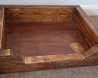 Handcrafted Wooden Dog Bed