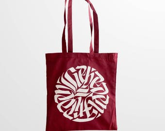 """Bag Calligraphy» Peace Flower """""""