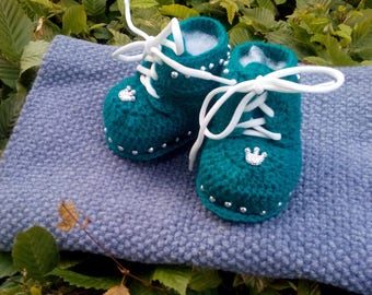 Crochet booties, baby shoes
