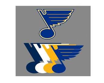 Blues SVG & Studio 3 Cut File Stencil Decal Files Logo for Silhouette Cricut SVGS Cutouts Hockey Decals Saint St Louis Note Music Stl Logos