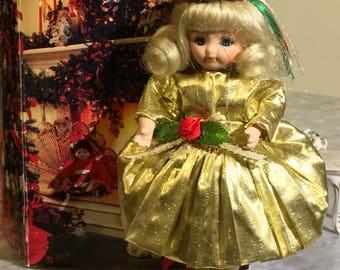 Vintage Marie Osmond Christmas Greeting Card Doll 1994