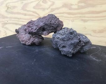 Ebony Lava Rock Aquascape Stone ADA Aquarium Fish Plant Shrimp Driftwood