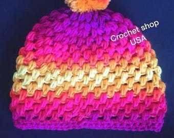 Crochet winter hat for girls and boys