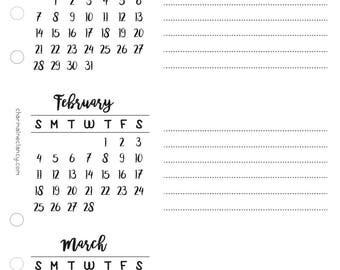 2018 Calendar Page