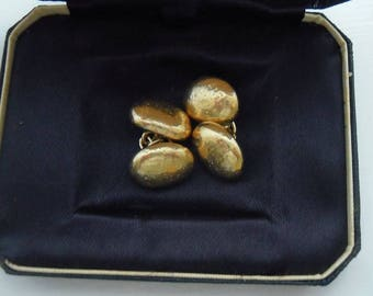 Cufflinks.  Sterling Silver - gold plated.