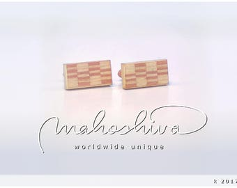 wooden cuff links wood flamed maple maple handmade unique exclusive limited jewelry - mahoshiva k 2017-48