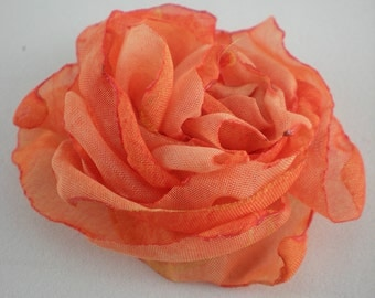Flower Rose Orange 6 cm as02