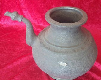 Rustic Original Vintage Style Authentic Copper Pitcher #1631