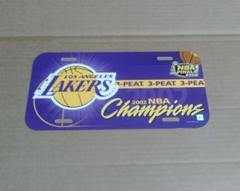 Los Angeles Lakers 2002 NBA Champions 3-Peat License Plate