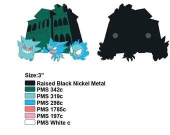 Presale Pokemon Ghost type Haunted Mansion Fantasy pin Gengar Haunter Ghastly