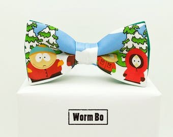 South Park Bow tie, Cartoons bowtie, Kenny, Cartman, Kyle, Stan