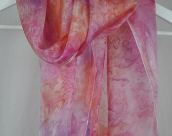 Sweet Dream in Pink - 100% Silk Scarf Hand Made in the UK