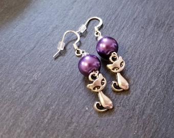 Pearl Kittycat Earrings
