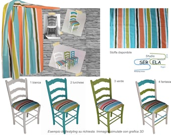 Restyling typical Sicilian handicraft chair-on request