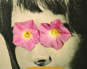 They Call Me Flower, Original Handmade Collage