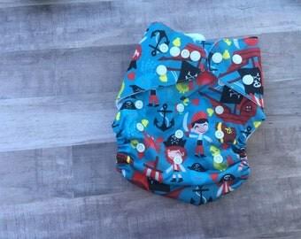 Pirate Pocket Cloth Diaper Set